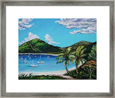 Path To White Bay  Framed Print by Eve  Wheeler