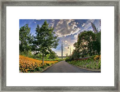 Path To Zakim-boston Framed Print