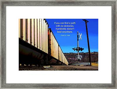Path With No Obstacles Framed Print by Mike Flynn