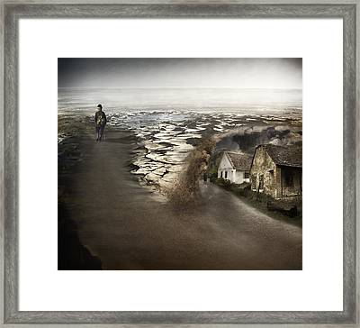 Paths Framed Print by Akos Kozari