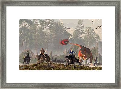 Paths Of Anguish Framed Print