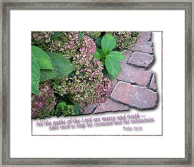 Paths Of The Lord Framed Print by Larry Bishop