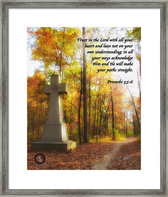 Pathway Cross Framed Print