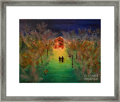 Framed Print featuring the painting Pathway Home by Denise Tomasura