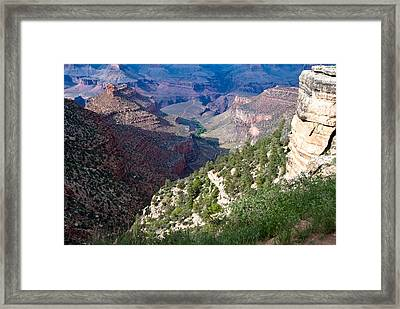 Pathway In Canyon Framed Print by Nickaleen Neff