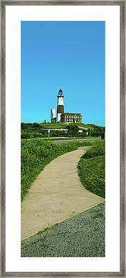 Pathway Leading Towards A Lighthouse Framed Print