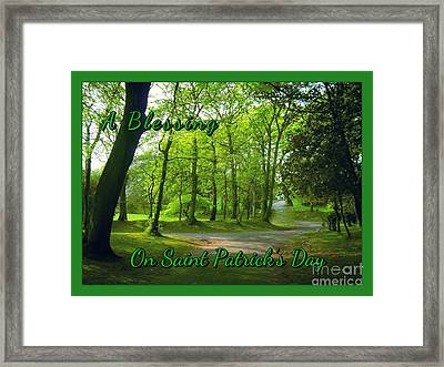 Pathway Saint Patrick's Day Greeting Framed Print