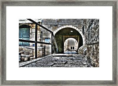 Framed Print featuring the photograph Pathway Through Old Jerusalem by Doc Braham