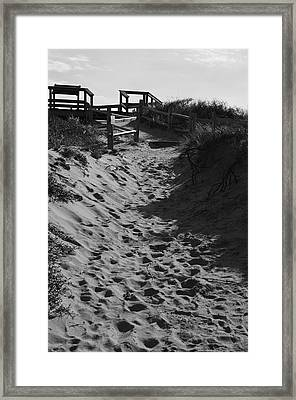 Pathway Through The Dunes Framed Print by Luke Moore