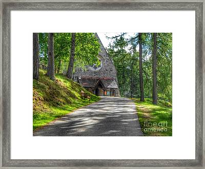 Pathway To Crathie Church Framed Print