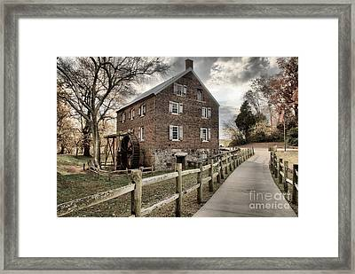 Pathway To Kerr Grist Mill Framed Print