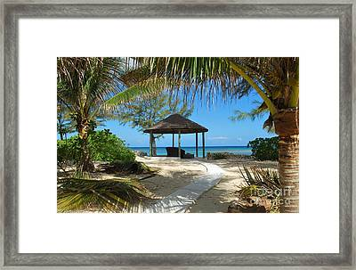 Pathway To Paradise Framed Print by Bob Sample