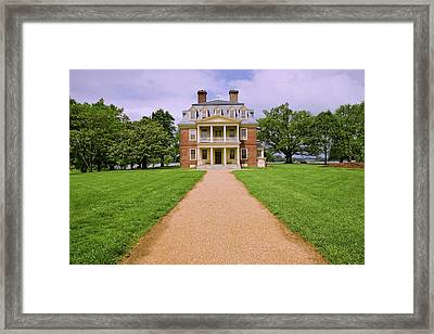 Pathway To Shirley Plantation Great Framed Print