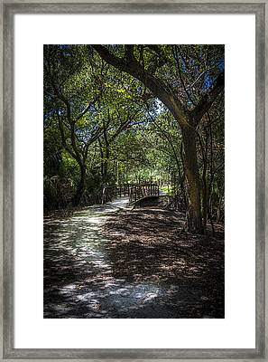Pathway To The Bridge Framed Print by Marvin Spates