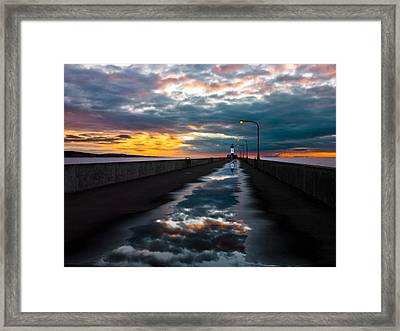 Pathway To The Sun Framed Print