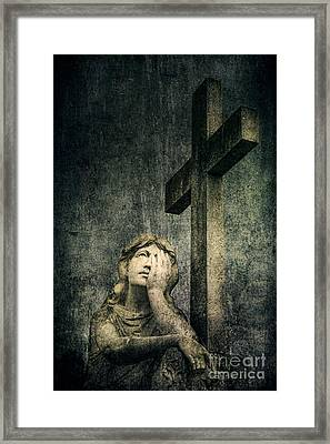 Patience In Pain Framed Print by Andrew Paranavitana