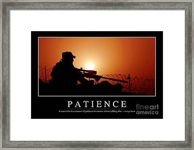 Patience Inspirational Quote Framed Print by Stocktrek Images