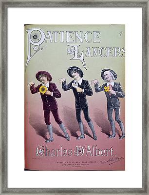 Patience Lancers Framed Print by British Library