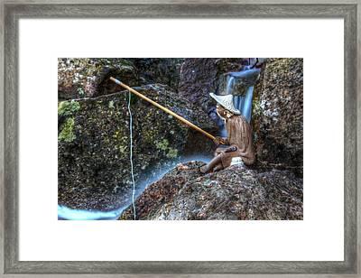 Patient Angler Framed Print