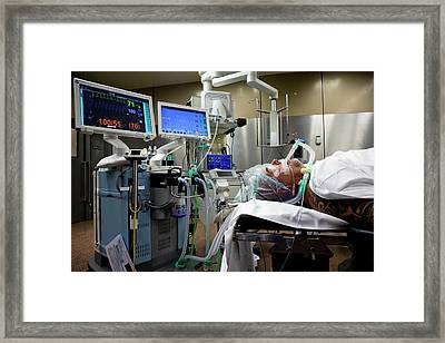 Patient Prepared For Surgery Framed Print by Patrick Landmann