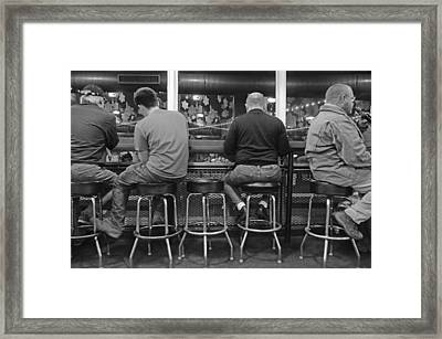 Patiently Waiting Framed Print by Steven Michael