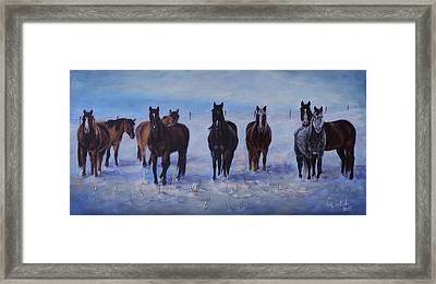 Patiently Waitling Framed Print