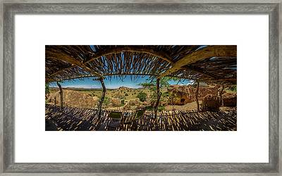 Patio At The Twyfelfontein Country Framed Print