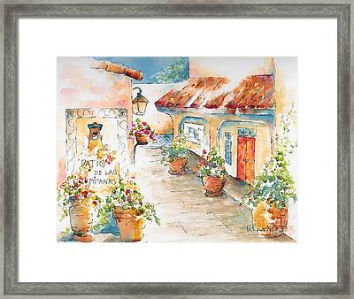 Patio De Las Campanas  Framed Print