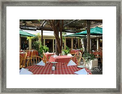 Patio Dining At The Swiss Hotel In Downtown Sonoma California 5d24439 Framed Print by Wingsdomain Art and Photography
