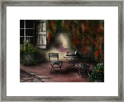 Patio Garden Framed Print