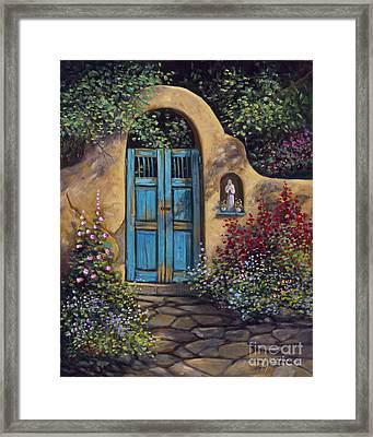 Patio Framed Print by Ricardo Chavez-Mendez