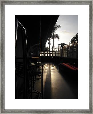 Patio Sunset Framed Print by Bruce Sommer