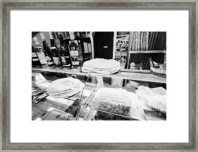 Patisserie Boulangerie With Local Catalan Speciality Pastries Wine Bread In Mont-louis Pyrenees-orie Framed Print by Joe Fox