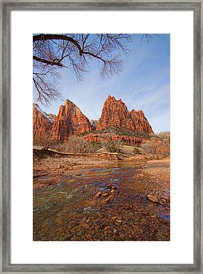 Patriarchs Of Zion Framed Print by Rick Lewis