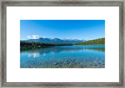 Patricia Lake With Mountains Framed Print by Panoramic Images