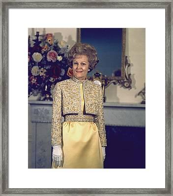 Patricia Nixon Models Her Harvey Berin Framed Print by Everett