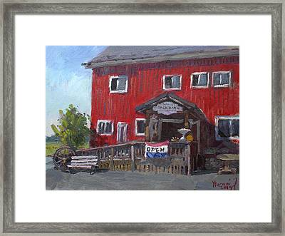Patricia's Back Barn Framed Print by Ylli Haruni