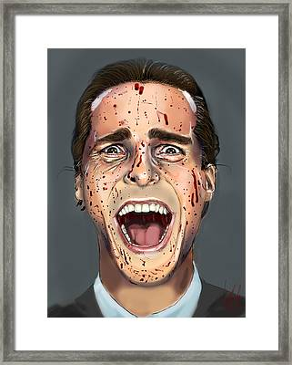 Patrick Bateman Framed Print by Vinny John Usuriello