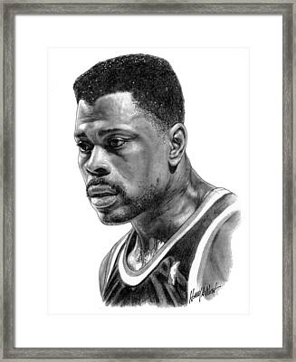 Patrick Ewing Framed Print