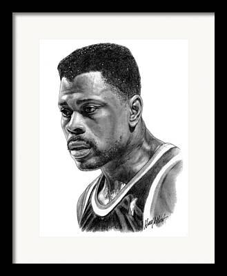 Patrick Ewing Drawings Framed Prints