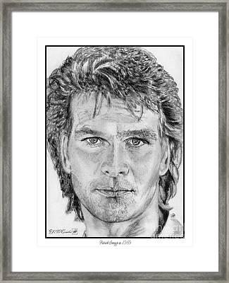 Patrick Swayze In 1989 Framed Print by J McCombie