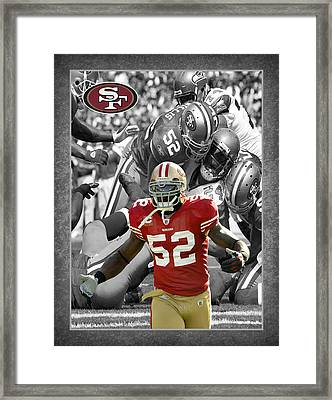 Patrick Willis 49ers Framed Print