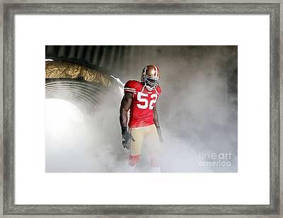 Patrick Willis Framed Print by Marvin Blaine