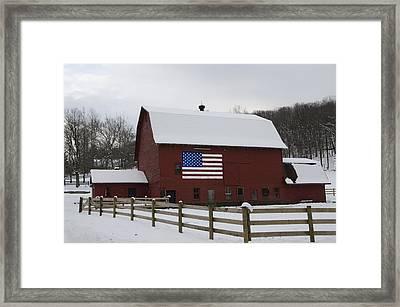 Patriot Barn - Wilkes Barre Pa Framed Print