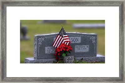 Patriot Grave Framed Print