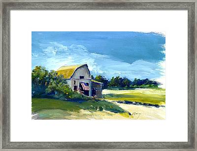 Framed Print featuring the painting Patriot by Sally Simon