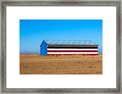 Patriotic Barn Framed Print