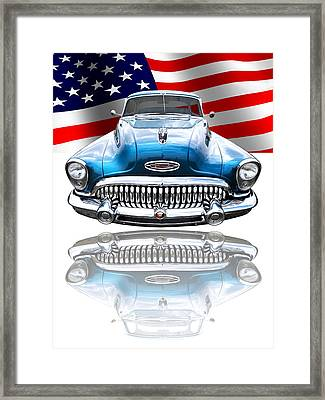 Patriotic Buick Riviera 1953 Framed Print by Gill Billington