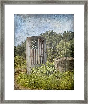 Patriotic Farm Silo Framed Print