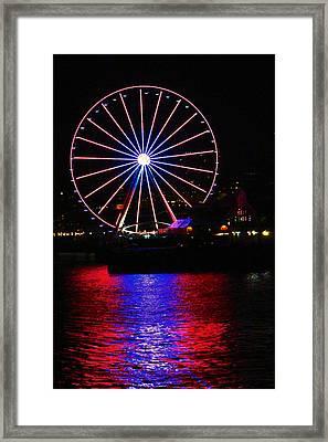 Patriotic Ferris Wheel Framed Print by Kym Backland